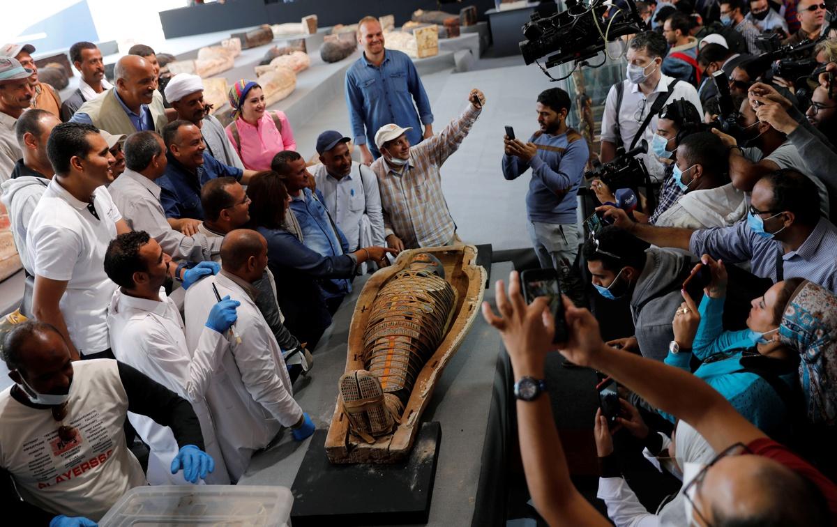 Chùm ảnh: Hàng trăm quan tài mới được phát hiện ở Ai Cập