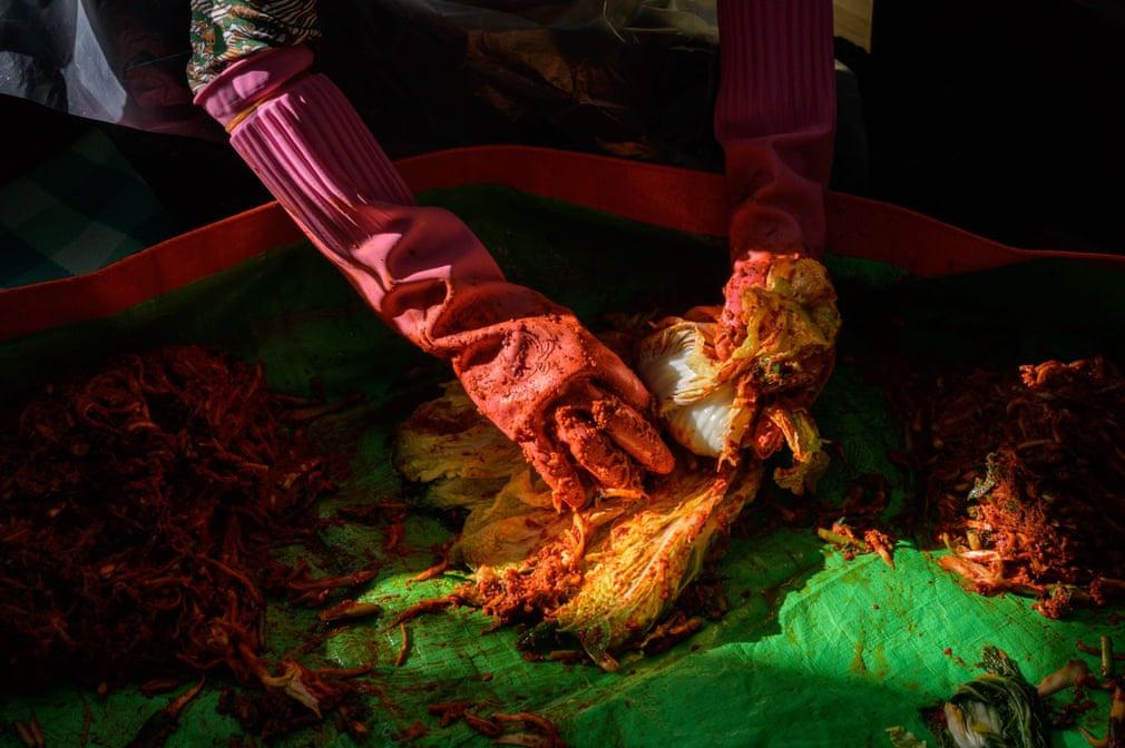 Chùm ảnh: Quá trình sản xuất kim chi của người Hàn Quốc