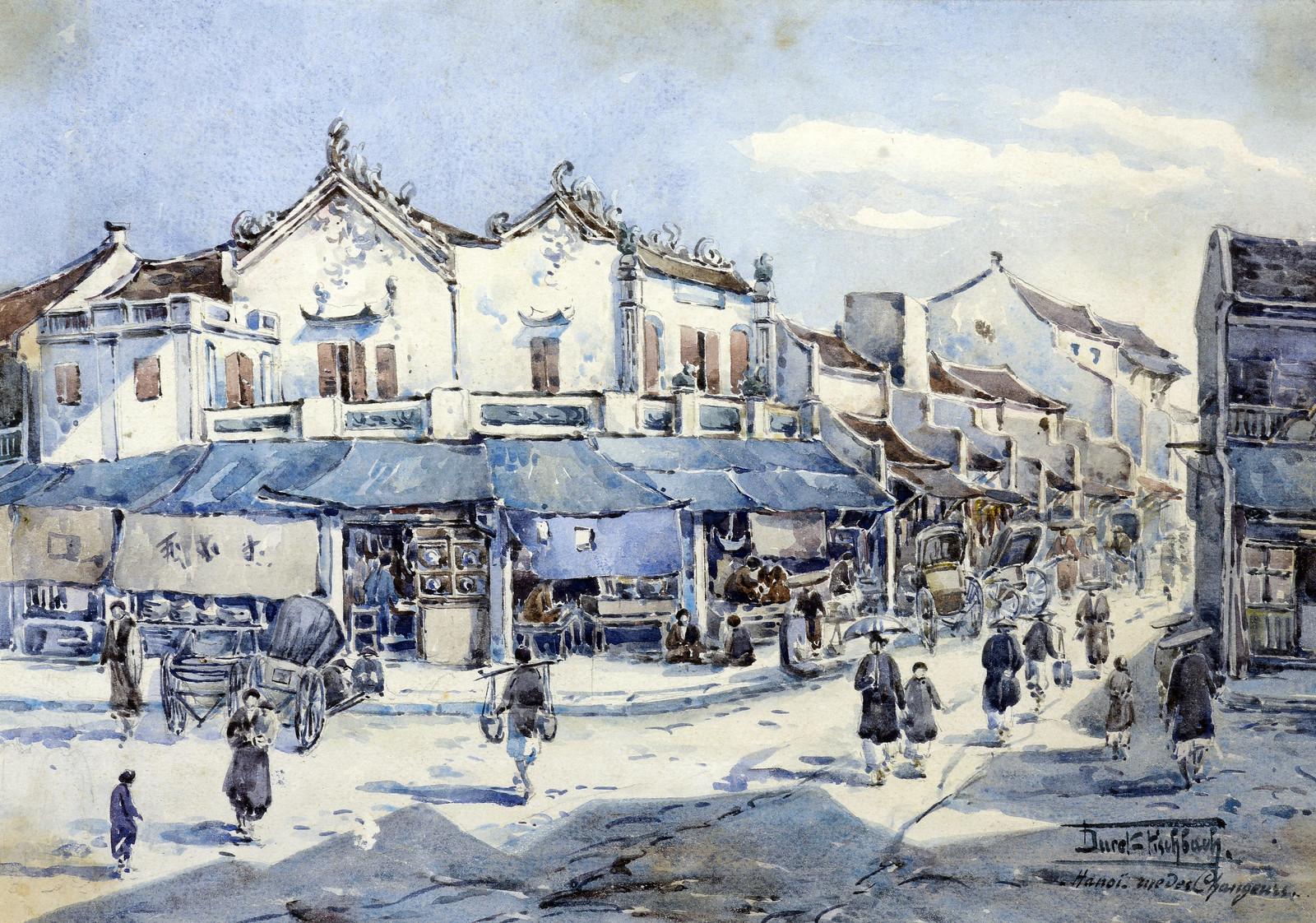 Charles Édouard Hocquard kể về phố đổi tiền ở Hà Nội xưa