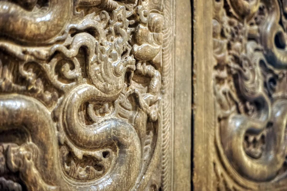 Chùm ảnh: Cận cảnh bộ cửa rồng tuyệt mỹ của triều Trần