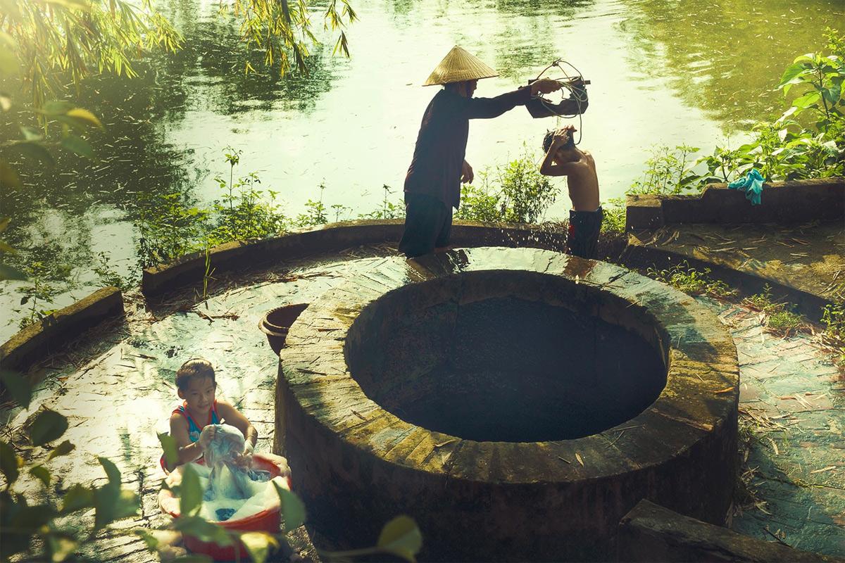 Cảm thức mùa xuân về chiếc giếng làng