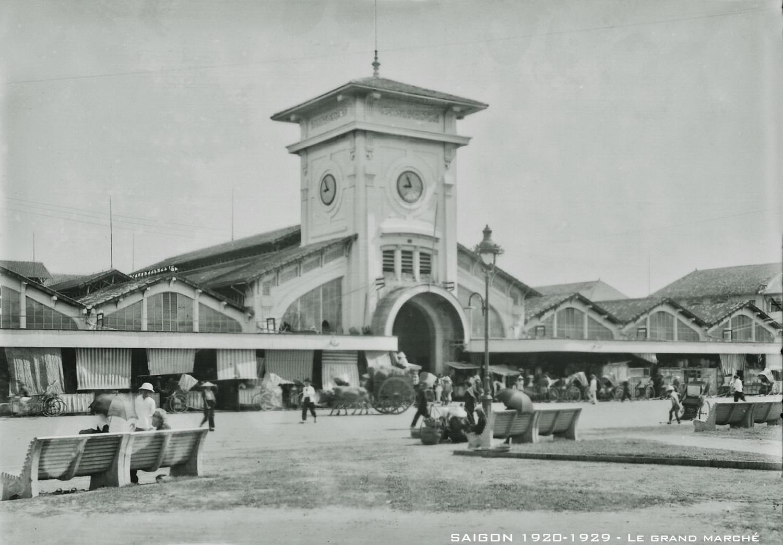 Chùm ảnh: Diện mạo chợ Bến Thành ở Sài Gòn một thế kỷ trước