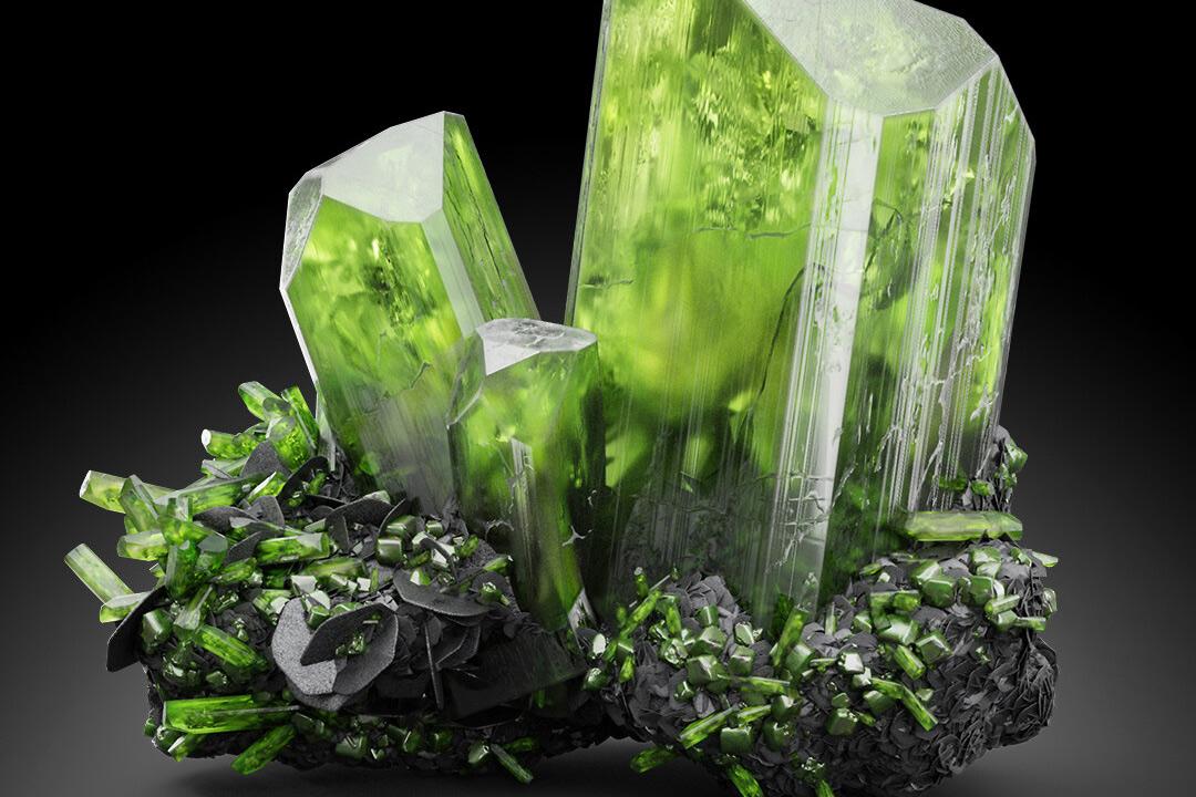 Chùm ảnh: Những khoáng vật có màu xanh lục đầy mê hoặc