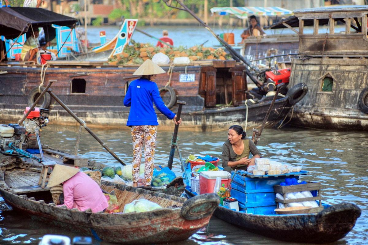 Chùm ảnh: Những điều kỳ thú của chợ nổi Ba Ngàn ở Hậu Giang