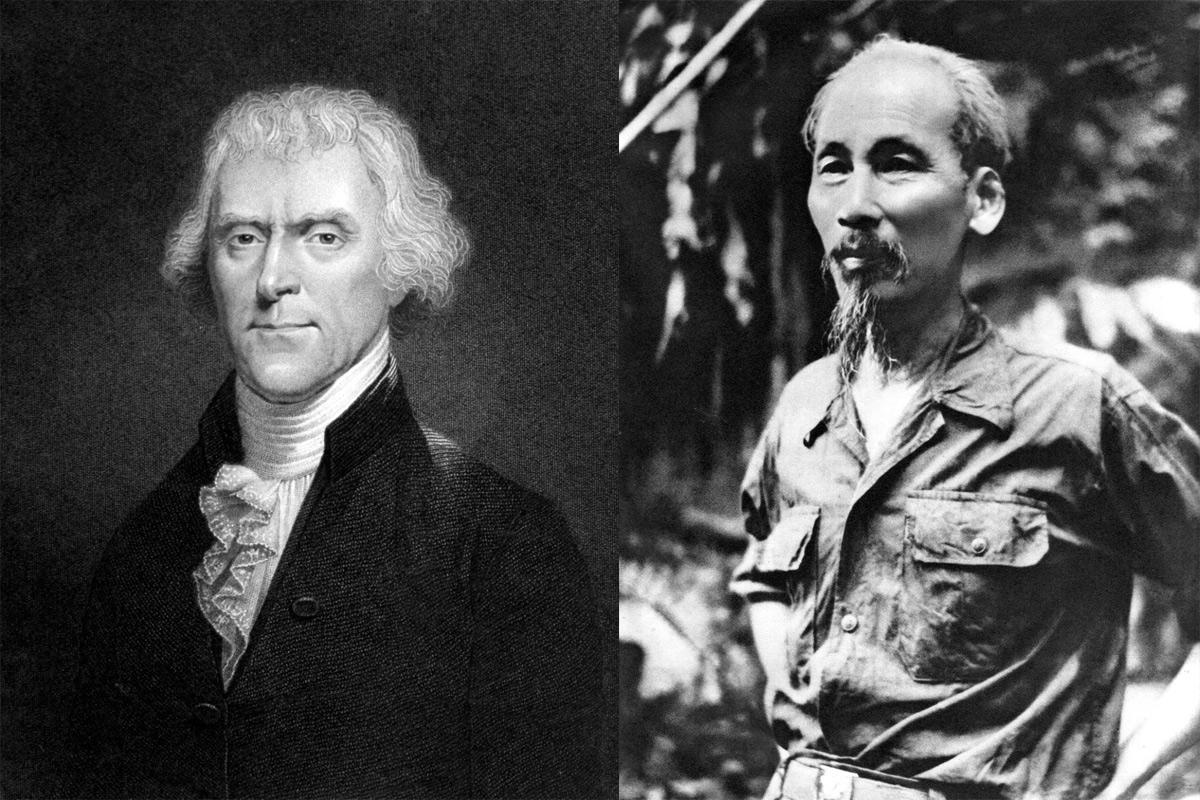 Điểm chung giữa Hồ Chí Minh và Thomas Jefferson, cha đẻ hai bản Tuyên ngôn Độc lập